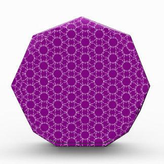 Modern Purple Doodle Honeycomb Acrylic Award