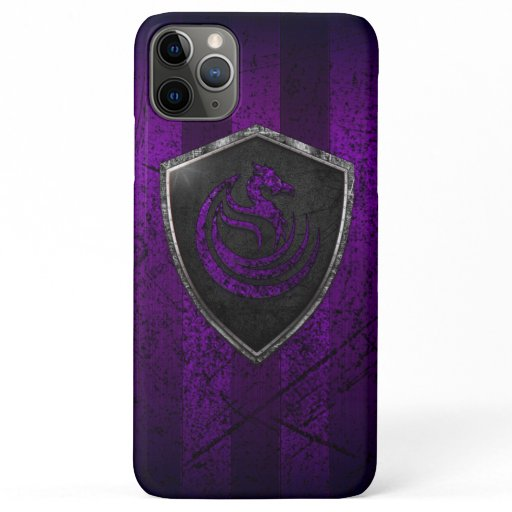 Modern Purple Dragon Emblem Coat Of Arms iPhone 11 Pro Max Case