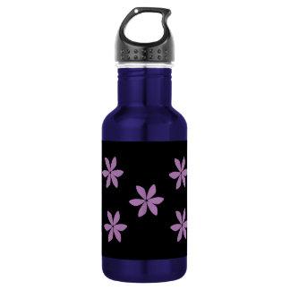 Modern Purple Flower Pattern 18oz Water Bottle