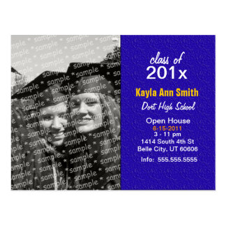 Modern Purple Grad Card Postcard