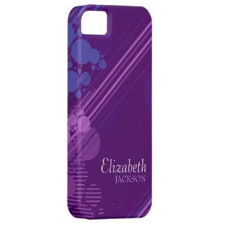 Modern Purple Grunge Design iPhone 5 Case