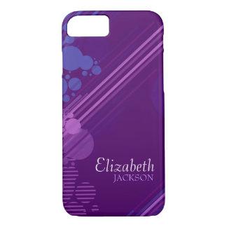 Modern Purple Grunge Design iPhone 7 case