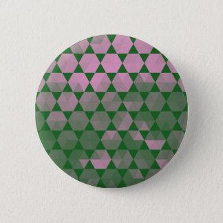 Modern Purple Hex Graphic Design Pinback Button