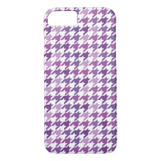 Modern Purple Houndstooth Pattern. iPhone 8/7 Case