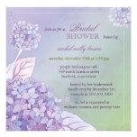 Modern Purple Hydrangeas Floral Bridal Shower Personalized Invites