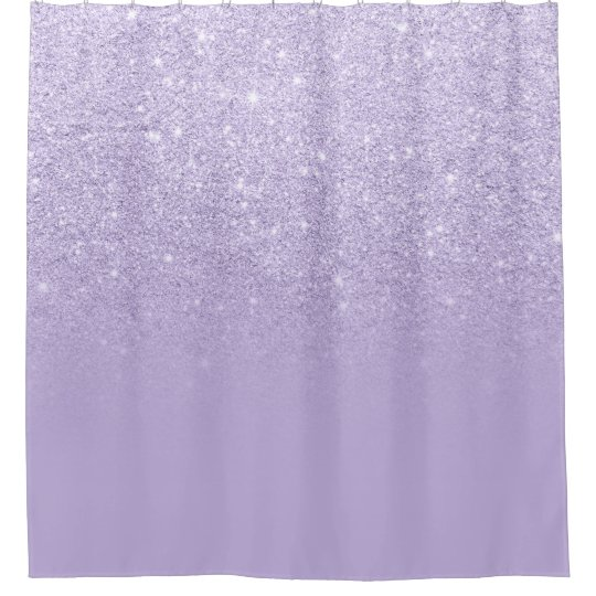 Modern Purple Lavender Glitter Ombre Color Block Shower