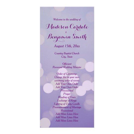 Modern Purple Lilac Wedding Program Template