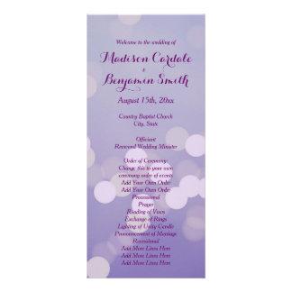 Modern Purple Lilac Wedding Program Template Rack Cards