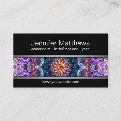 Modern Purple Lotus mandala Business Card