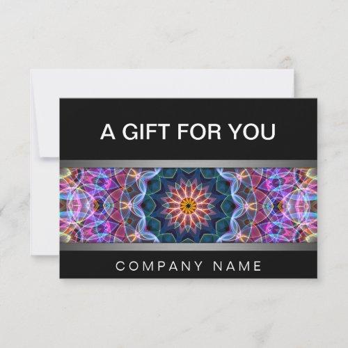 Modern Purple Lotus mandala gift certificate