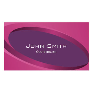 Modern Purple Obstetrician Business Card
