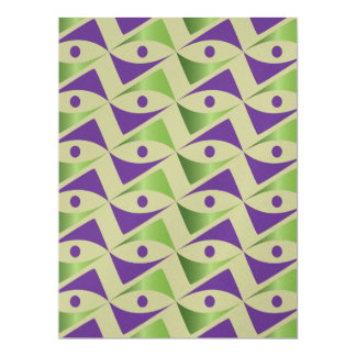 Modern Purple & Peridot Card