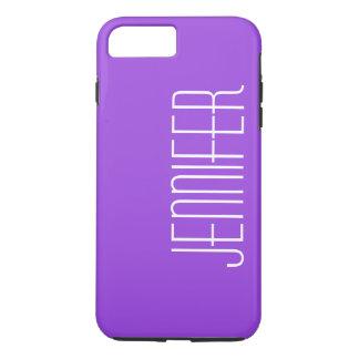 Modern Purple, Personalized, Custom Jumbo Name iPhone 7 Plus Case