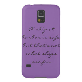 Modern Purple Phone Case with Quote