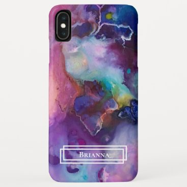 Modern Purple Pink Marble iPhone XS Max Case