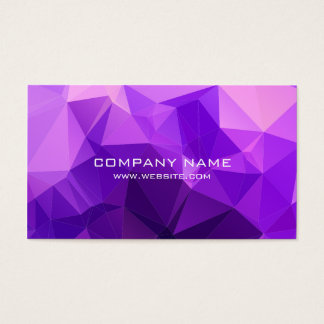 Modern Purple Polygonal - Business Card