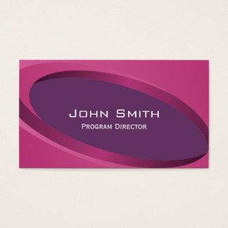 Modern Purple Program Director Business Card