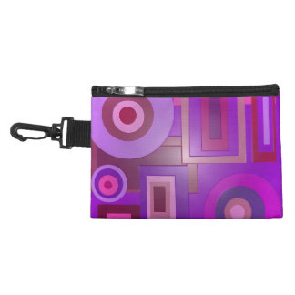 Modern purple shapes abstract accessory bag