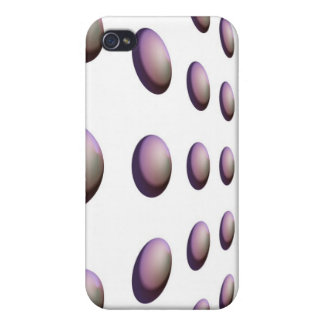 Modern Purple Sphere Design Cases For iPhone 4