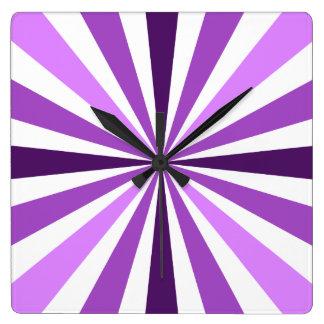 Modern Purple Stripe Clock