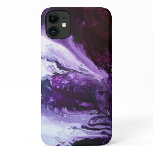 Modern Purple Swirl Design iPhone 11 Case