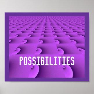 Modern Purple Swirl Pattern - Possibilities Poster
