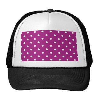 Modern Purple Swiss Polka Dot Trucker Hat
