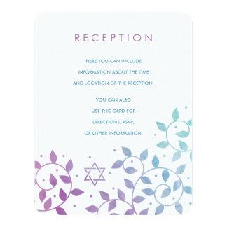 Modern Purple + Teal Bat Mitzvah Insert Cards