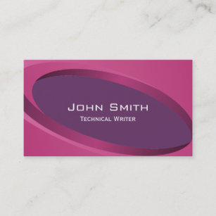 Technical writing business cards templates zazzle modern purple technical writer business card colourmoves