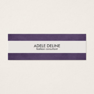 Modern Purple White Stripe Fashion Business Card