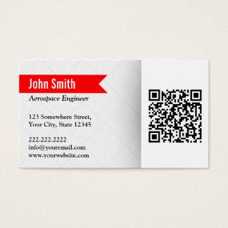 Modern QR Code Aerospace Engineer Business Card