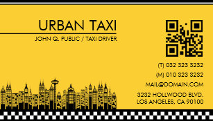 Taxi driver business cards zazzle modern qr code cab taxi driver business card colourmoves