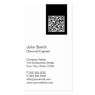 Modern QR code Chemical Engineer Business Card