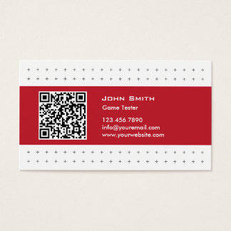 Modern QR Code Game Testing Business Card