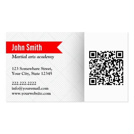 Modern QR Code Martial Arts Business Card