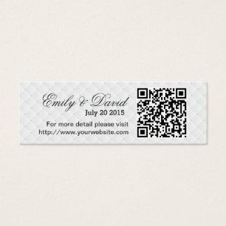 Modern QR Code Wedding Website Insert Card