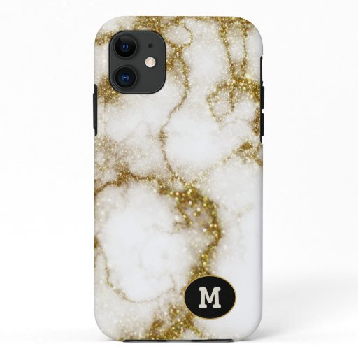 Modern Quarts & Gold Stone Crystal Personalize iPhone 11 Case