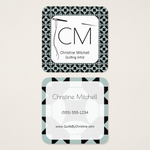 Modern Quilt Artisan Square Business Card