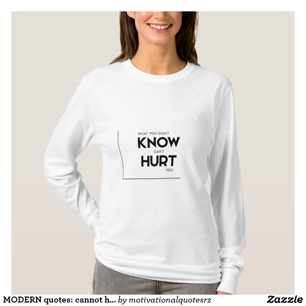 MODERN quotes: cannot hurt you T-Shirt - Best Selling Long-Sleeve Street Fashion Shirt Designs