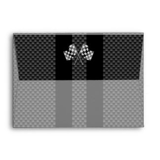 Modern Racing Flags Stripes in Carbon Fiber Style Envelope