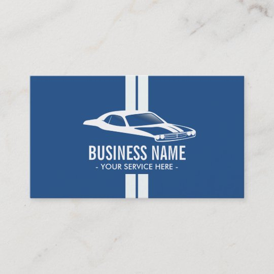 Modern Racing Stripes Muscle Car Automotive Business Card Zazzle Com