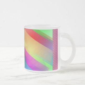 Modern Rainbow Abstract Frosted Glass Coffee Mug