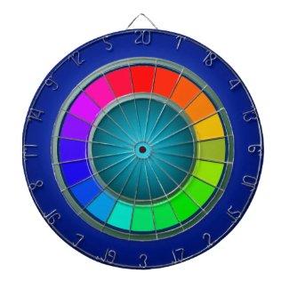 Modern Rainbow Blue Dartboard Minimalism