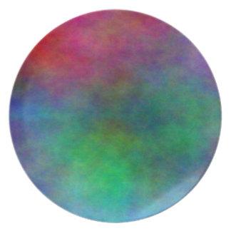 modern rainbow color dish plate