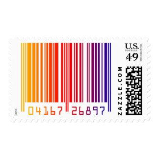 Modern Rainbow Data Barcode Stamp