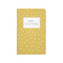 Modern Raindrops Pattern Pocket Notebook Journal