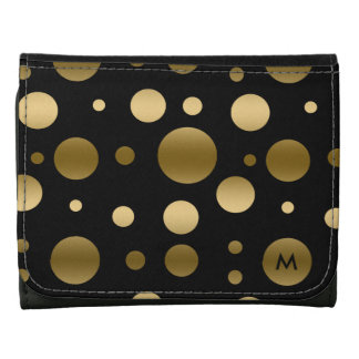 Modern Random Gold Circles Pattern Wallets
