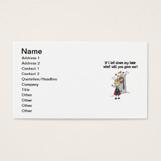 Modern Rapunzel Business Card