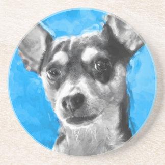 Modern Rat Terrier Drink Coaster