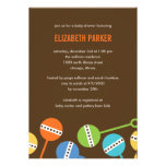 Modern Rattles Boy Baby Shower Invitation Announcement
